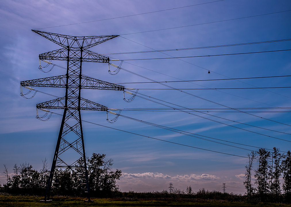 A two circuit 240KV steel transmission tower designed to withstand the forces of a direction transition.