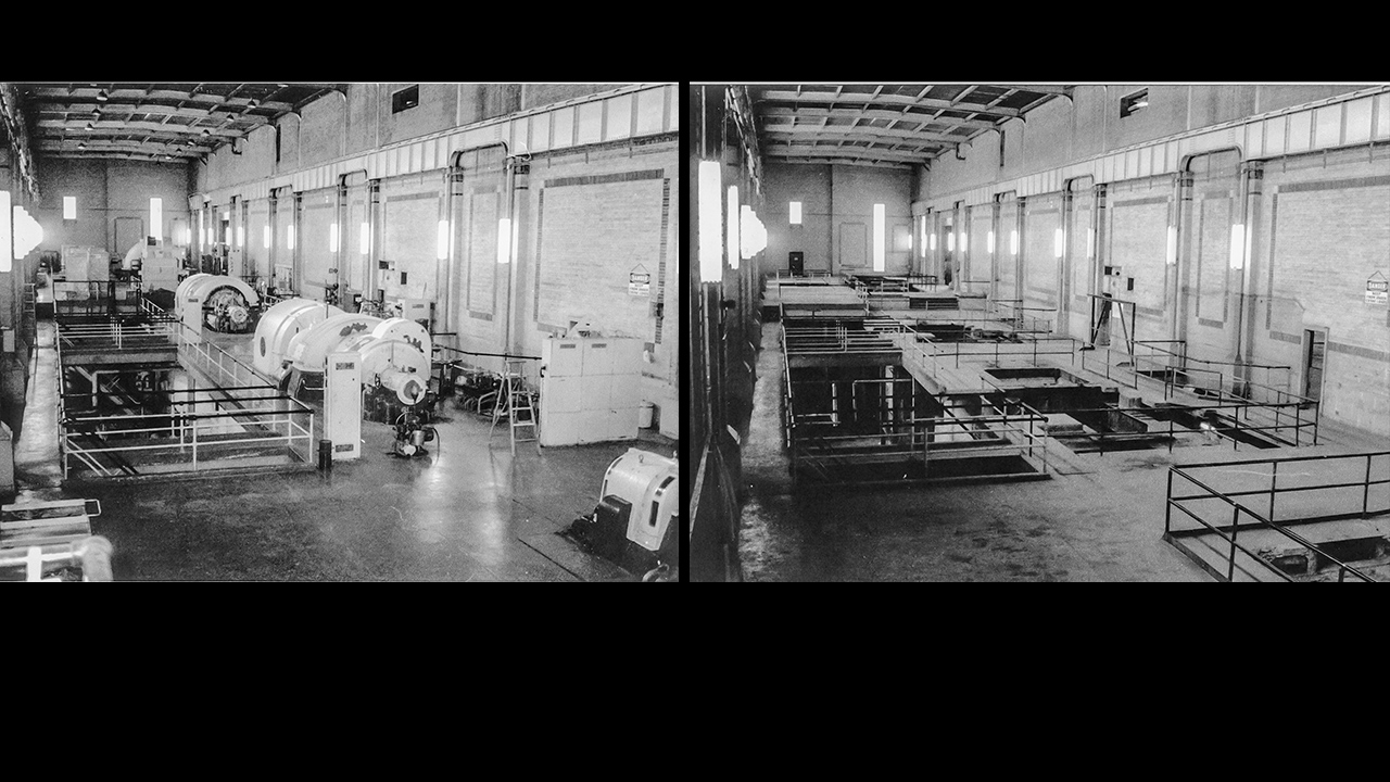 LP Turbine Hall before and after decommissioning